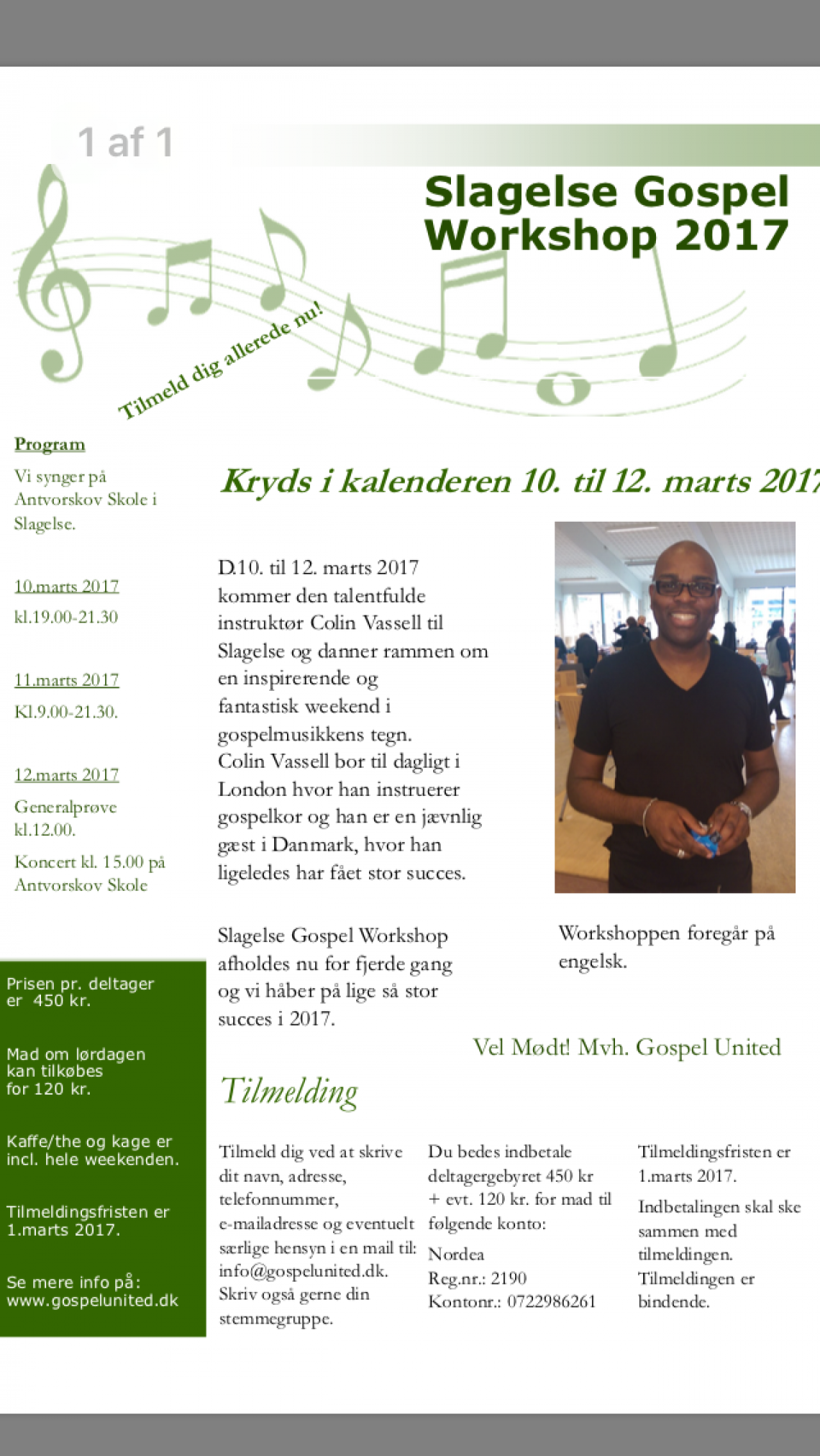 Slagelse Gospel Workshop 2017