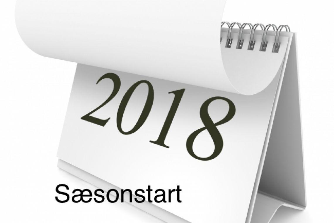 Sæsonstart forår 2018 - Medlemmer
