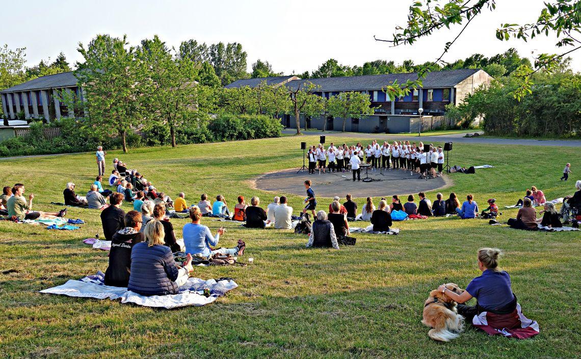 Uformel udendørs gospelkoncert i aften