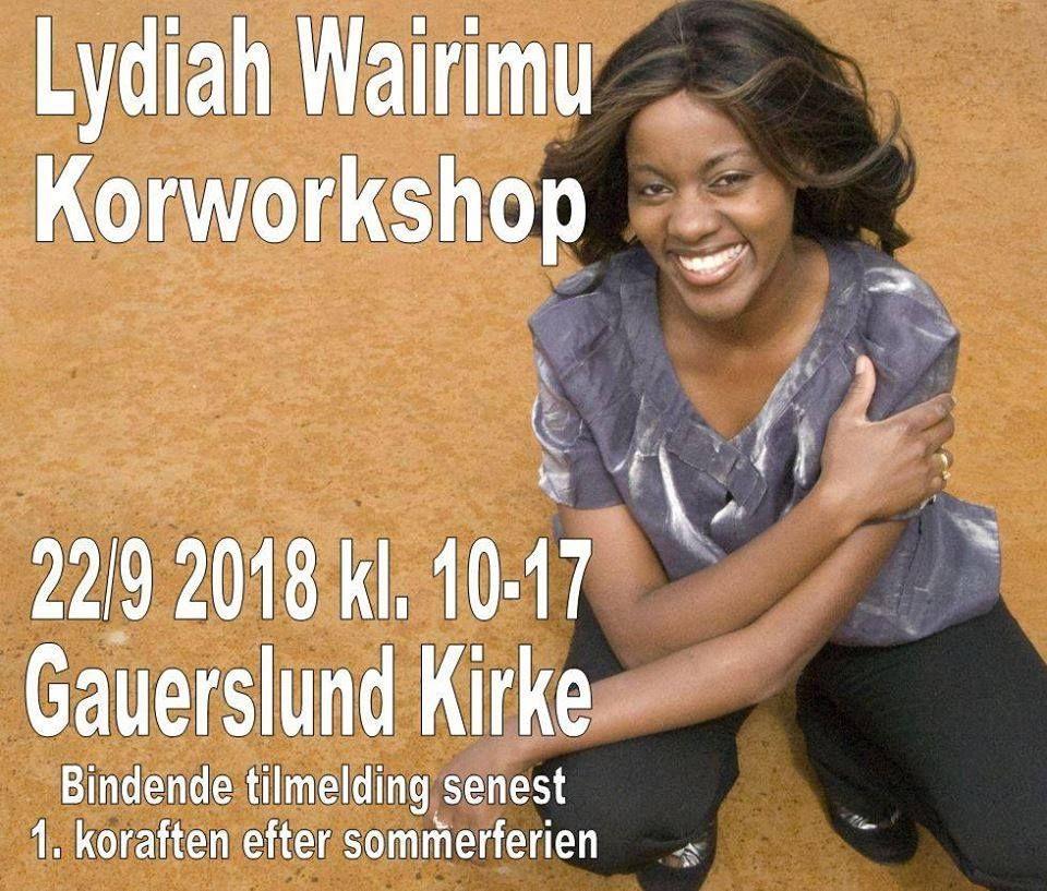 Gospelworkshop med Lydiah Wairimu