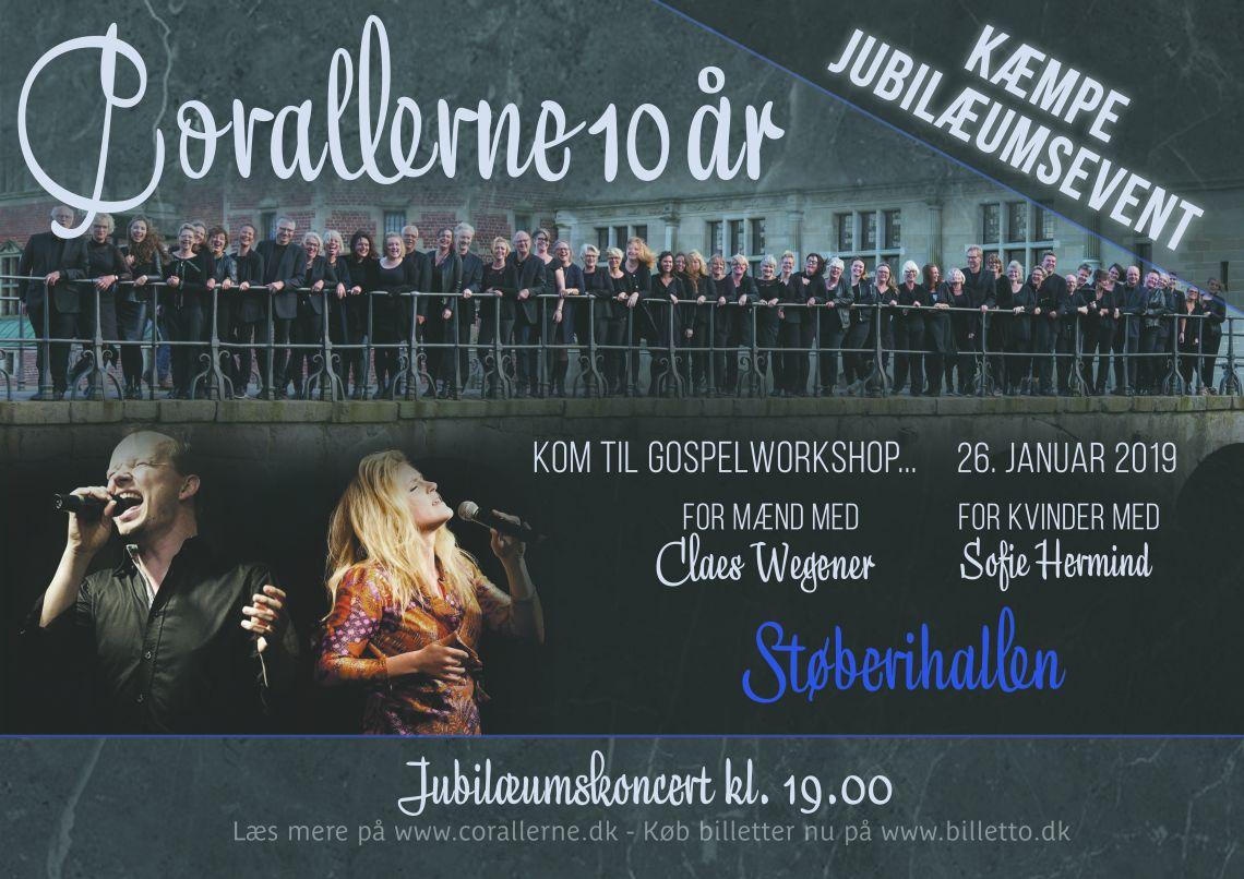 CORALLERNE fejrer 10 år med WORKSHOPS og KÆMPE JUBILÆUMSKONCERT!