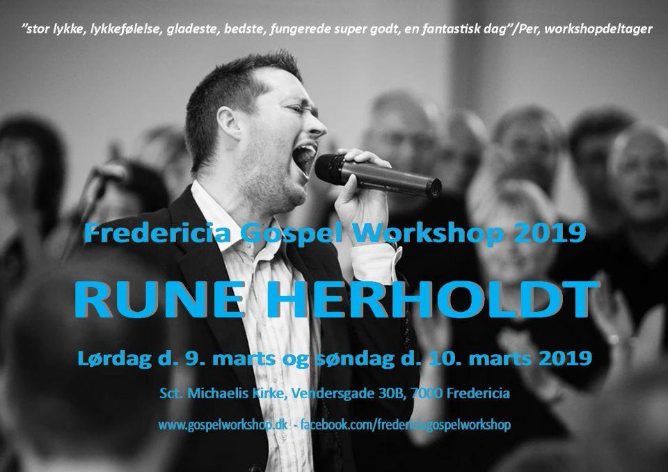 Rune Herholdt og gospelworkshop i Fredericia