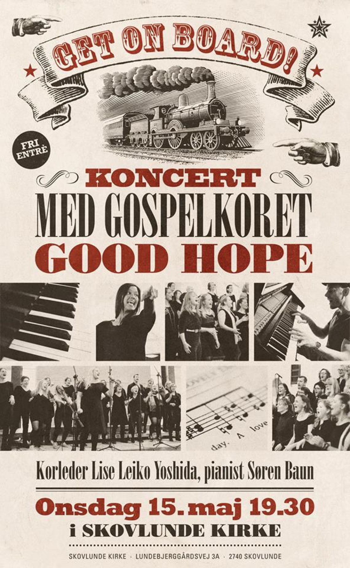 Gospelkoncert i Skovlunde Kirke: Get on board!