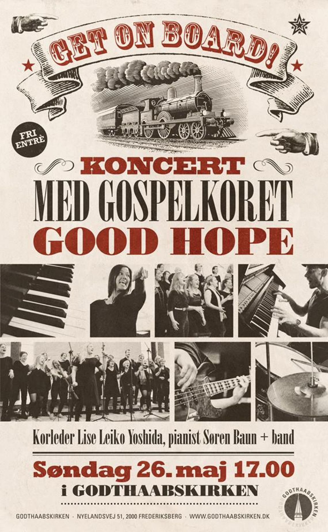 Gospelkoncert: Get on board!