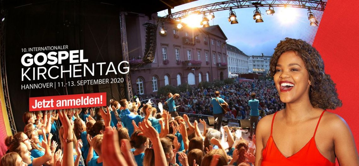 Join the mass choir with 5000 singers at Gospelkirchentag 2020