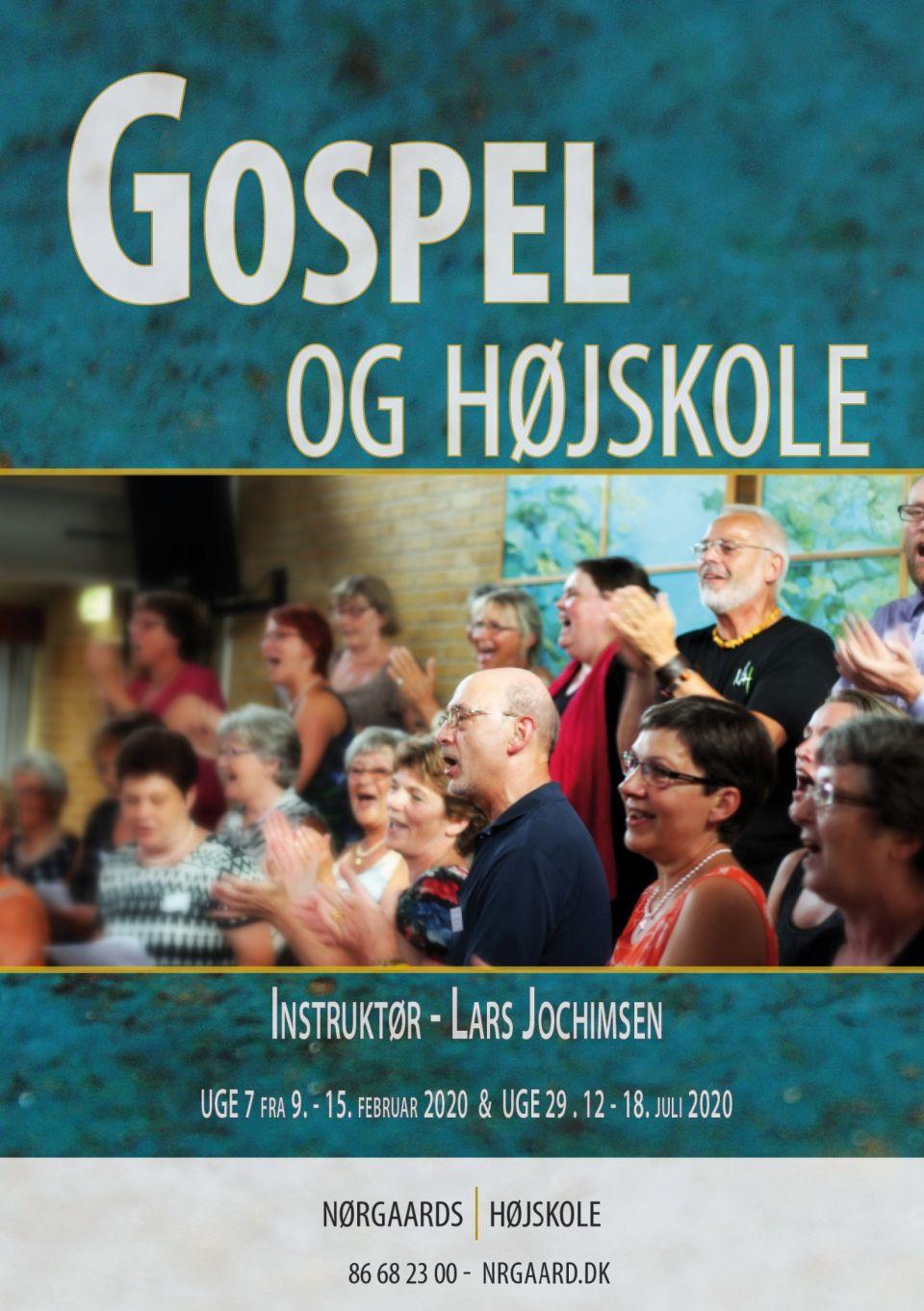 """VINTER-GOSPELWORKSHOPPå Nørgaards Højskole uge 7 (09.-15.februar 2020)Instruktør: Lars JochimsenTemaet i år er """"It's A New Season""""- et nyt år med nye muligheder. Vi arbejder i 3 stemmegrupper SAT og her er plads til ALLE der har lyst til at synge gospel.Ingen krav om tidligere erfaring – du skal bare have lyst til at synge.Kom og oplev en sjovt, lærerigt og livsbekræftende gospeluge.Vi glæder os til at se dig :-)Læs mere om kurset – klik på linket: https://nrgaard.dk/korte-ku…/sang-musik/gospel-og-hoejskole/Har du spørgsmål kontakt os gerne på mail: adm@nrgaard.dk eller på telefonnummer : 86 68 23 00."""
