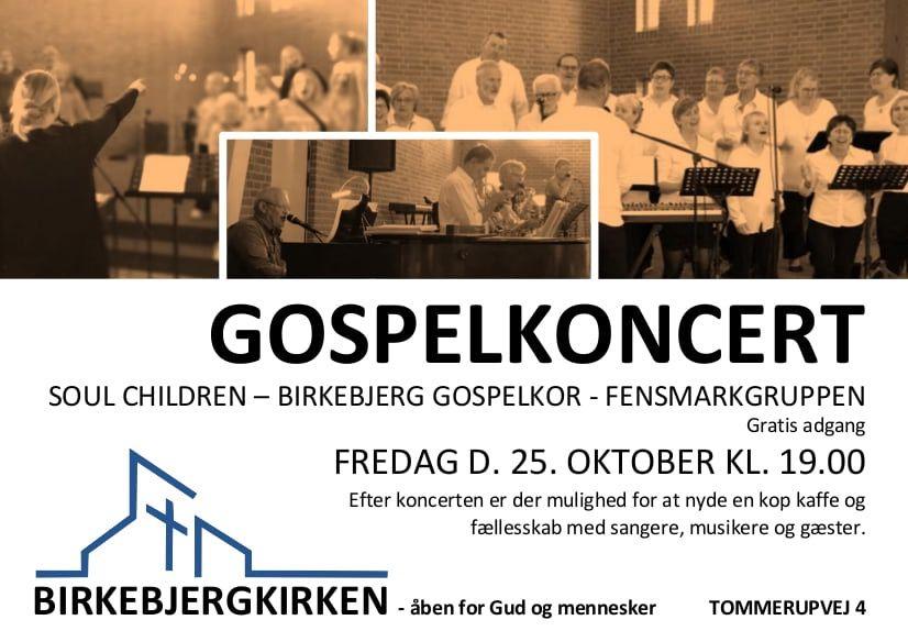 Mængder af gospel - børnekoret SoulChildren - Birkebjerg gospelkor og Fensmarkgruppen<br />Kom og få en god start på weekenden!<br />Birkebjergkirken, Tommerupvej 4, 4700 Næstved